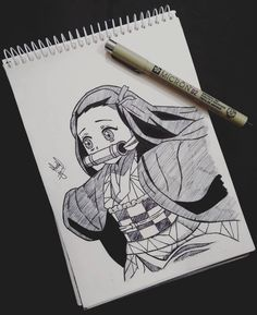 Nezuko inked complete😍 I guess inking turned out well😅 Hope u all like i. - Nezuko inked complete😍 I guess inking turned out well😅 Hope u all like it and keep supporti - Anime Character Drawing, Anime Drawing Styles, Manga Drawing, Manga Art, Anime Angel, Anime Demon, Realistic Drawings, Art Drawings Sketches, Dibujos Anime Chibi