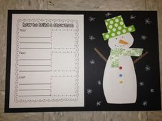 How To Build a Snowman Writing and Craft {Freebie}