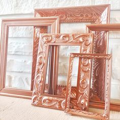 Rose gold photo frame collection just listed for your accent wall, nursery or above your bed for an instant WOW! More photo frame collages to come this week, stay tuned!