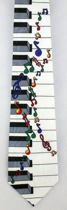 New Keyboard Notes Mens Necktie Pianos Musical Instrument Piano Music Neck Tie #StevenHarris #NeckTie