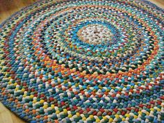 This rug is reserved for Paula1954, please do not buy if you are not her. Returning customer discount. This soft, warm wool rug measures 48 in diameter. I wanted to get a larger wool rug completed and listed before the cold weather sets in. Notice the richness of colors and how