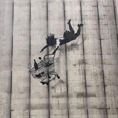 Shop till you drop by #banksy  #polly_street_art #стритарт