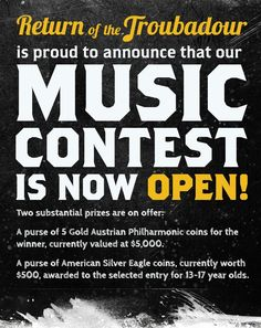 Return of the Troubadour Silver Eagle Coins, Change The World, Songs, Facebook, Music, Musica, Musik, Muziek, Song Books