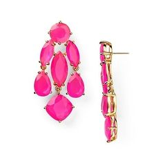 Kate Spade NY Pink Statement Earrings