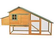 Pawhut Wooden Backyard Slant Roof Hen House Chicken Coop * Check out the image by visiting the link. Cheap Chicken Coops, Mobile Chicken Coop, Chicken Coop Run, Portable Chicken Coop, Building A Chicken Coop, Hen Chicken, City Chicken, Chicken Garden, Chicken Life