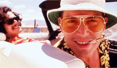 Johnny Depp as Dr. Gonzo in Fear and Loathing. Stay off the drugs, kids.