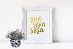 Baby Shower Quotes In Spanish ~ Personalized name art grace gold letter print custom name baby