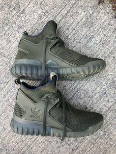 5f95531328d9e Adidas tubular X Primeknit Mens Night Cargo Green Black Size 9  fashion   clothing