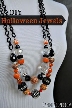 DIY Jewelry Making  Halloween Style on Candie Cooper's blog