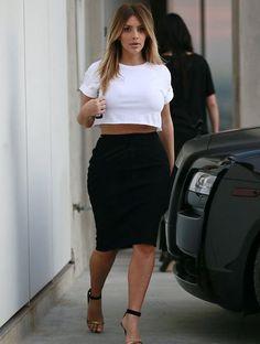 Kim Kardashian | crop tee