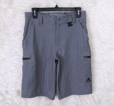 Boys ZEROXPOSUR Heather Gray Outdoor Gear Adjustable Waist Cargo Shorts Size 14 #ZeroXposur #Everyday