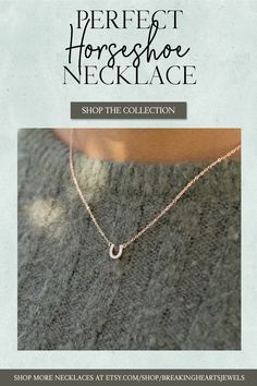 Tiny CZ Horseshoe Necklace is perfect for everyday and layering.Excellent Gift Idea for Horse lovers or Equestrians Slave Bracelet, Heart Bracelet, Etsy Jewelry, Jewelry Stores, Horseshoe Necklace, Gold Anklet, Birthday Gifts For Sister, Layered Jewelry, Dainty Necklace