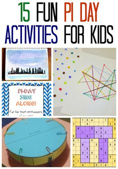 15 Fun Pi Day Activities for Kids provide some truly amazing and fun ways to learn all about the magical and mathematical concept of Pi. Math Activities For Kids, Spring Activities, Math For Kids, Fun Math, Math Resources, Math Games, Teaching Kids, Kids Learning, Maths