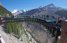 Mount Edith Cavell near Jasper, Alberta. You walk on a glass sidewalk!