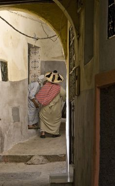 Tangier, Morocco. Traditional hat of Jabala mountain people.