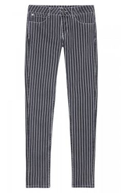 Sandro-Pinstripe Skinny Jeans