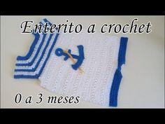 BODY A CROCHET PARA BEBE - PASO A PASO - TEJIDO FACIL - YouTube Crochet Bebe, Crochet For Kids, Crochet Hats, Crochet Baby Clothes Boy, Crochet Flowers, Baby Knitting, Baby Kids, Crochet Patterns, Barbie
