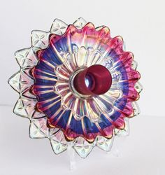 Recycled Mixed Berry Pie Vintage Glass Flower  / by TheBlueRam, $118.00