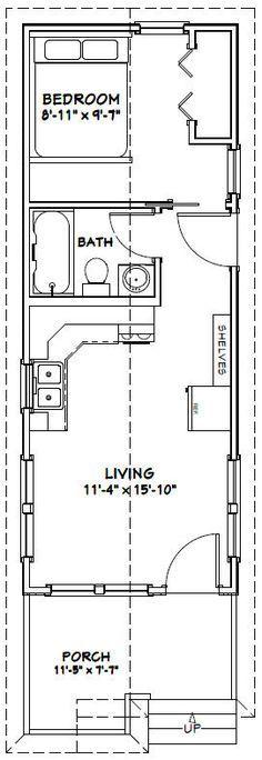 12x32 Tiny House -- #12X32H1 -- 384 sq ft - Excellent Floor Plans