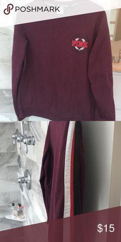 39cb12f2b4 Martin crewneck Strap detailing down sleeve PINK Victoria s Secret Sweaters  Crew   Scoop Necks
