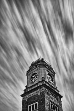 The clouds were moving along nicely at the time of this photo, so I combined my 10 stop filter with my ND8 filter to capture the movement like this.