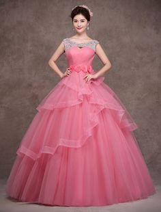 Gorgeous Beading Backless Lace-Up Ball Gown Dress Indian Gowns Dresses, Ball Gown Dresses, Tulle Dress, Lace Dress, Cheap Formal Dresses, Unique Prom Dresses, Cheap Evening Dresses, Evening Gowns, Red Wedding Dresses