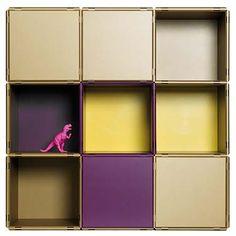 Das Designprämierte Regalsystem Qubing Als Aktenregal Oder Bücherwand,  Sideboard Oder Highboard, Hier In Der