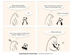 » Superhugs For Superbugs Panda and Polar Bear Those moments when your talking but only in your head,