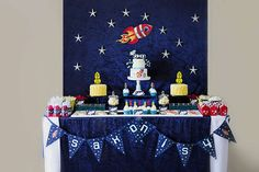 Rockets / Outer space Birthday Party Ideas   Background