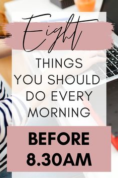 How to nail the perfect morning routine. Tired of waking up feeling sluggish, tired, and not wanting to get up at all? This simple morning routine will ensure you wake up feeling fresh and ready to face the day. Ditch those unhealthy habits and change your life today with my morning routine you can do before work! #morningroutine #badhabits #productive