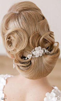 Gorgeous Bride Hairstyle  #weddbook #wedding #hair