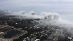 Fog Cloud Tsunami! Fog Cloud hits the coast of Panama City Beach.    @Gizmodo
