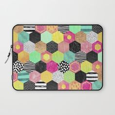 Color Hive by Elisabeth Fredriksson, $36. https://society6.com/product/color-hive_laptop-sleeve?curator=bestreeartdesigns