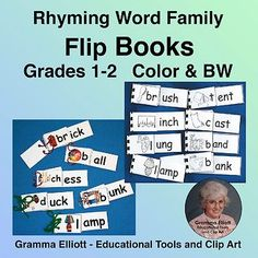 Rhyming Activities Flip Books for First and Second Grades for home and school Teaching Resources, Teaching Ideas, Teaching Phonics, Increase Vocabulary, First Grade Lessons, Rhyming Activities, Flip Books, Reading Specialist, Rhyming Words