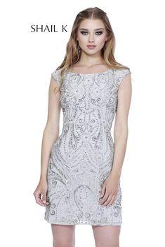 70841c4362 Scoop Neck Body Hugging Embellished Cocktail Dress 3234. Pageant Dresses ...