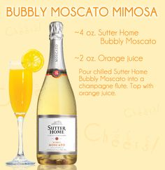 Sutter Home Blog » Blog Archive » Sutter Home Wine Cocktail: Bubbly Moscato Mimosa
