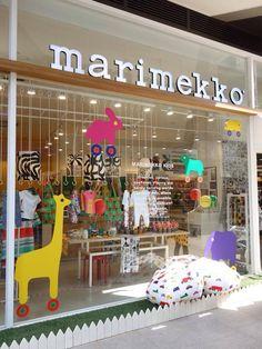 marimekko store Window Display Design, Shop Window Displays, Window Signage, Marimekko Fabric, Aircraft Painting, Retail Windows, Visual Display, Restaurant, Tents