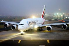 Today marks 3 months since the Emirates A380 started flying here. Emirates Airbus A380 - Mumbai Airport.