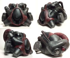 X-01 Helmet Fallout inspired by FutureSculpture on Etsy