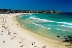 """The ever-so-famous Bondi Beach in New South Wales. """"Bondi"""" or """"Boondi"""" is an Aboriginal word meaning water breaking over rocks or noise of water breaking over rocks. Suits it perfectly, right?"""