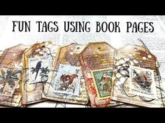 Make Fun Tags using book pages includes Mini Happy Mail Giveaway 🦋 Shanouki Art 🦋 - YouTube Distress Oxides, Happy Mail, Used Books, Book Pages, Tag Art, Junk Journal, Altered Art, Making Ideas, Gift Tags
