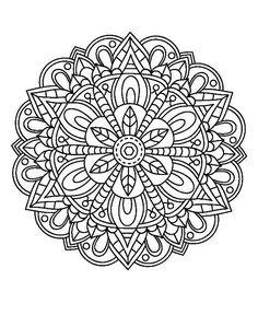 Pattern Coloring Pages, Mandala Coloring Pages, Coloring Book Pages, Coloring Sheets, Mandala Doodle, Mandala Art, Mandala Painting, Sewing Art, Mosaic Patterns