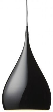 BH1 Black Spinning Pendant Lamp   Tradition