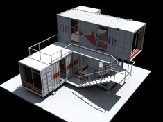 new container office container architecture Shipping Container Buildings, Used Shipping Containers, Shipping Container Home Designs, Shipping Container Storage, Shipping Container Office, Container Cafe, Cargo Container, Container House Plans, Recycling Containers