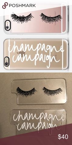 2 Casetify iPhone 6 case plates Two gently used Casetify plates for the iPhone 6! One is eyelashes, the other says Champagne Campaign. I do not have the bumper case that comes with it, just the interchangeable plates. Very minor scratching, hard to tell. **NO TRADES** Casetify Accessories Phone Cases