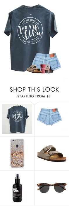 """""""i love Ivory Ella (:"""" by arieannahicks ❤ liked on Polyvore featuring Birkenstock, H&M and Majorica"""