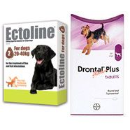 SPECIAL OFFER - Ectoline Spot on Dog 20-40kg 2 pipettes and 4 x Drontal Dog Tablets    £16.00    http://www.thepetmedicinecompany.co.uk/dog/flea-and-tick-treatment/SPECIAL-OFFER--Ectoline-Spot-on-Dog-2040kg-2-pipettes-and-4-x-Drontal-Dog-Tablets-SOECT009SO.php