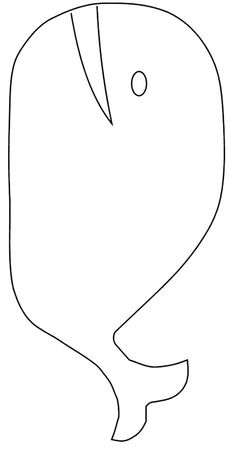 Whale coloring sheet