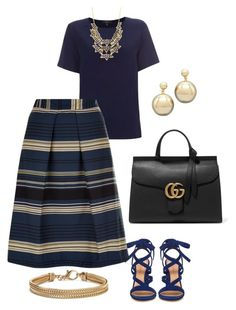 """""""noite"""" by andreasimo on Polyvore featuring Gianvito Rossi, Paul Smith, Monsoon, Gucci, Charlotte Russe, Blue Nile, women's clothing, women, female and woman"""