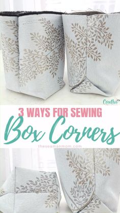 Wondering how to give design, shape and volume to all your bags? Simply create a flat bottom! Here you'll learn 3 easy peasy ways for sewing box corners!  #easypeasycreativeideas #sew #sewing #sewingtips #sewingtipsandtricks #sewinghacks #sewingtutorials #sewingbasics #sewingprojects #easysewing #sewingforbeginners #beginnersewing #beginnersewingprojects #sewingbags #bags #bagsewing #bagsewingpattern #sewingtechniques